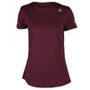 ADIDAS Women`s Sequencials Money Short Sleeve Tee Maroon