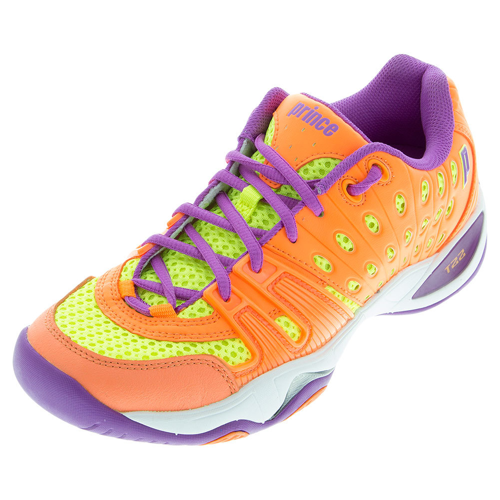 Women's T22 Tennis Shoes Orange And Yellow