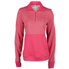 ADIDAS Women`s Limitless 1/2 Zip Top Super Pink
