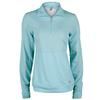 ADIDAS Women`s Limitless 1/2 Zip Top Frozen Blue