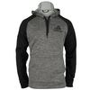 ADIDAS Men`s Fleece Pullover Hoodie Dark Gray Heather and Black