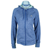 ADIDAS Women`s Fleece Full-Zip Hoodie Bold Blue Heather