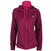 ADIDAS Women`s Fleece Full-Zip Hoodie Maroon Heather