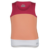 Girls` Illusion Sleeveless Tennis Tank 846_PEACH_POISE/CORL