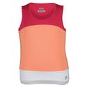 FILA Girls` Illusion Sleeveless Tennis Tank