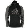 ADIDAS Men`s Tech Fleece Pullover Hoodie Black and Dark Gray Heather