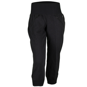 Women`s Cozy Fleece Capri Black