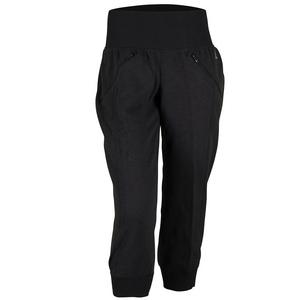 Women`s Cozy Fleece Capri Black