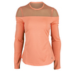 FILA Women`s Illusion Long Sleeve Tennis Top Peach Slope
