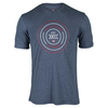 TRAVISMATHEW Men`s Wood Tennis Crew Heather Medieval Blue