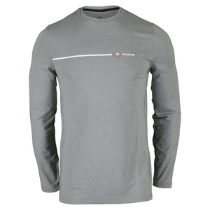 Men`s Armstrong Long Sleeve Tennis Top Heather Griffin