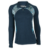 LIJA Women`s Streamline 1/4 Zip Tennis Top Abyss and Print