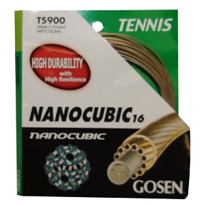 GOSEN NANOCUBIC TENNIS STRINGS 16G/1.31MM