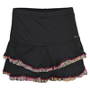 DENISE CRONWALL Women`s Ruffle Tennis Skort Black