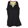 DENISE CRONWALL Women`s Racerback Tennis Top Black