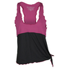 DENISE CRONWALL Women`s Layer Tennis Top Ruby and Black
