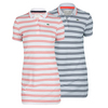 LACOSTE Women`s Short Sleeve Technical Stripe Piqued Polo Tennis Dress