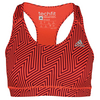 ADIDAS Women`s Techfit Bra Solar Red and Maroon Print