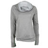 ADIDAS Women`s Fleece Exaggerated Mock Top Lite Gray Heather