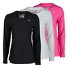 UNDER ARMOUR Women`s Heatgear Armour Long Sleeve Top