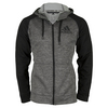ADIDAS Men`s Fleece Full Zip Hoodie Dark Gray Heather and Black