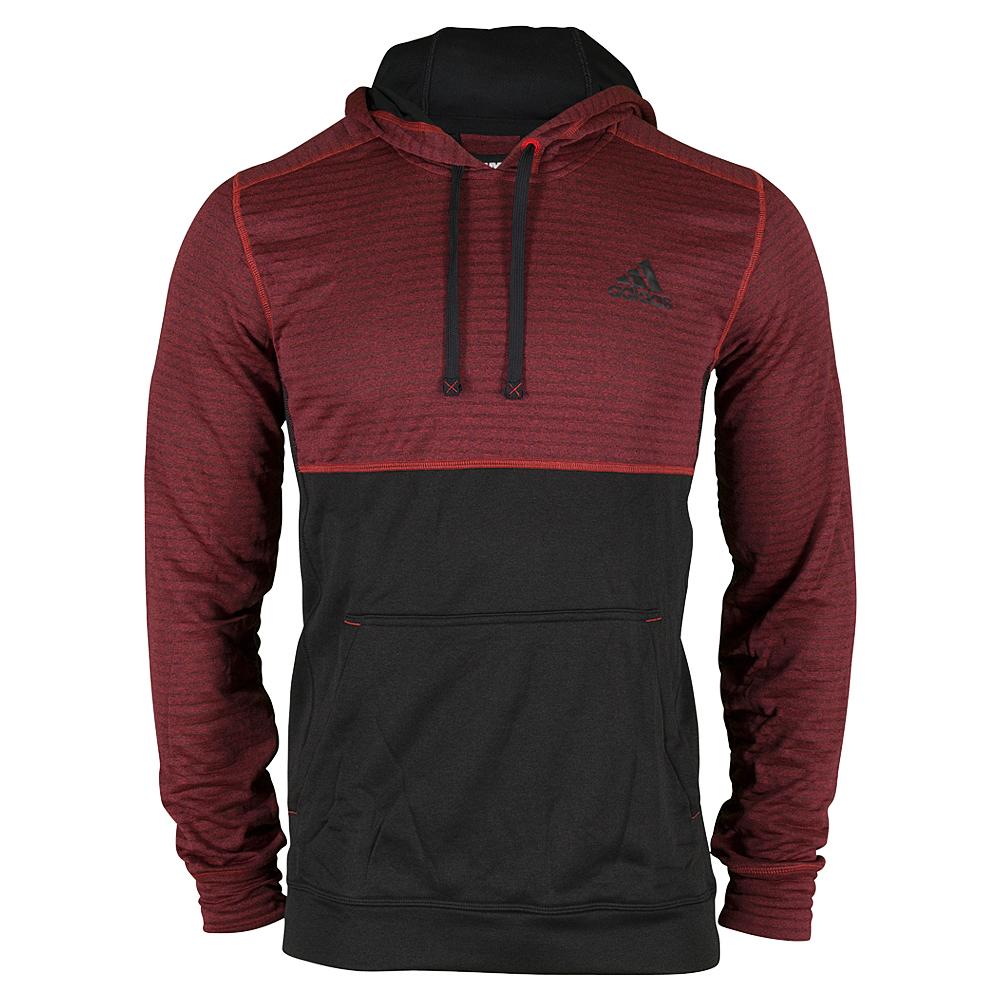 Men`s Ultimate Fleece Pullover Hoodie Vivid Red and Black