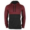 ADIDAS Men`s Ultimate Fleece Pullover Hoodie Vivid Red and Black