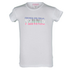 LITTLE MISS TENNIS Girls` Sequin Tennis Tee White