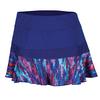PRINCE Women`s Color Splash Knit Tennis Skort Deep Purple