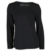 CHRISSIE BY TAIL Women`s Jill Long Sleeve Tennis Top Black