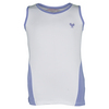 Girls` Tennis Tank White and Lavender by LITTLE MISS TENNIS