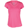 PRINCE Women`s Core V Neck Cap Sleeve Tennis Top Azalea Pink
