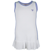 Girls` Pleated Tennis Dress White and Lavender by LITTLE MISS TENNIS
