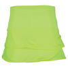 LUCKY IN LOVE Girls` Pindot Scallop Tennis Skort Neon Yellow