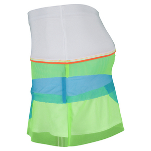 Girls` Mesh Scallop Tennis Skort White and Multi