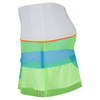 LUCKY IN LOVE Girls` Mesh Scallop Tennis Skort White and Multi