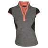 BOLLE Women`s Bellini Cap Sleeve Tennis Top Black Heather