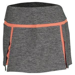 Women`s Bellini 13.5 Inch Tennis Skort Black Heather and Orange