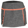 BOLLE Women`s Bellini 13.5 Inch Tennis Skort Black Heather and Orange