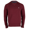 FRED PERRY Men`s Loopback Crew Sweatshirt Mahogany