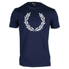 FRED PERRY Men`s Textured Laurel Wreath Tennis Tee French Navy