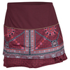 LUCKY IN LOVE Women`s Long Rockin` Moraccan Tier Tennis Skort Wine
