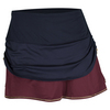 LUCKY IN LOVE Women`s Rouched Tier Tennis Skort Midnight