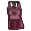 LUCKY IN LOVE Women`s Rockin Moroccan Mesh Layer Tennis Tank Wine