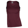 LUCKY IN LOVE Women`s Sleeveless V-Neck Tennis Tank Wine