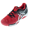 ASICS Men`s Gel-Resolution 6 Tennis Shoes Fiery Red and Black