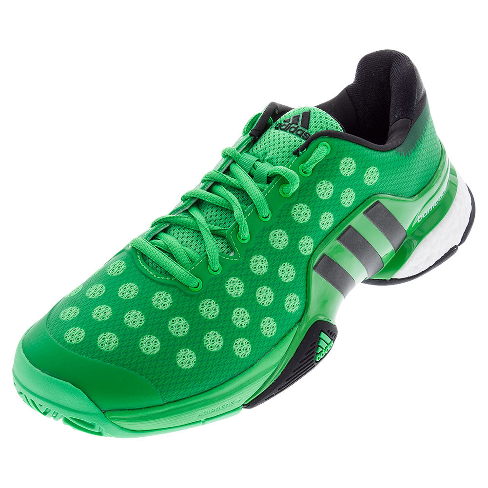Men's Barricade 2015 Boost Tennis Shoes Light Flash Lime And Black