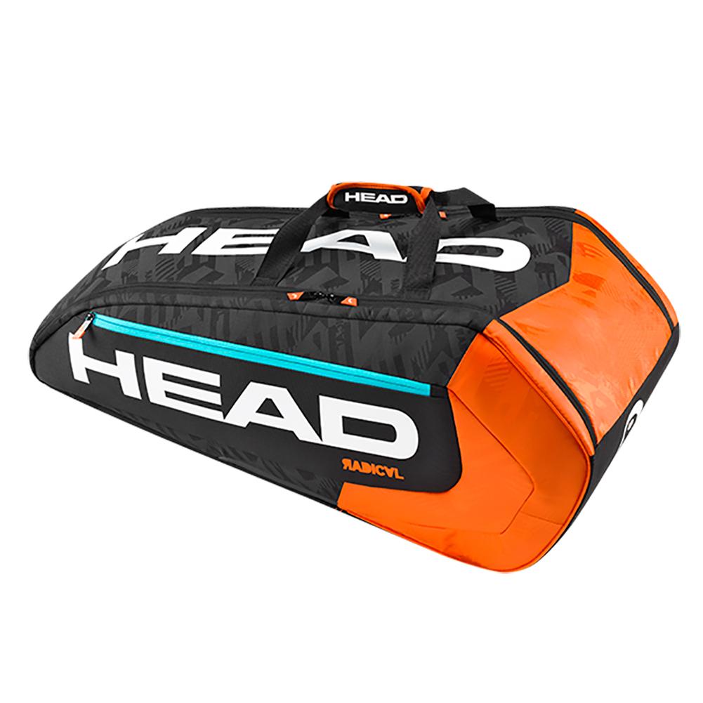 Radical 9 Pack Supercombi Tennis Bag Black And Orange