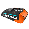 HEAD Radical 9 Pack Supercombi Tennis Bag Black and Orange