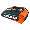 HEAD Radical 12 Pack Monstercombi Tennis Bag Black and Orange